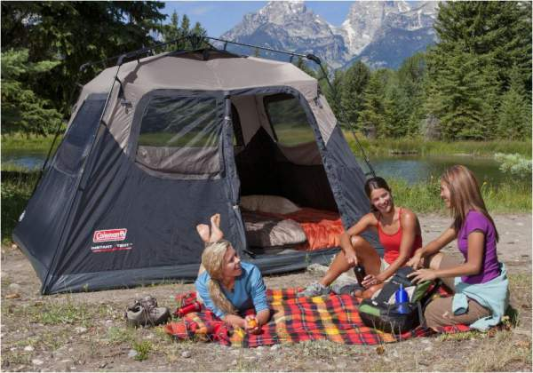 Coleman 6 Person Instant Cabin Tent.
