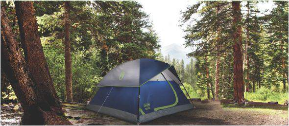 Coleman Sundome 6 - freestanding and versatile tent.