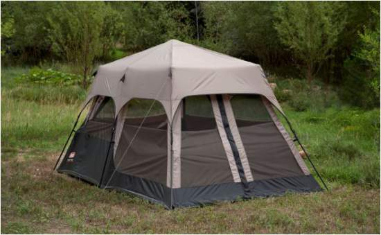 Here is the tent with the optional rain fly. & Coleman 8 Person Instant Camping Tent 14 x 10 - Express Setup ...