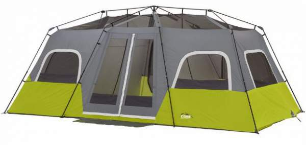 Here is the tent without the fly, so you can see its pole structure and the mesh ceiling. You can set it on any terrain, it is fully freestanding.