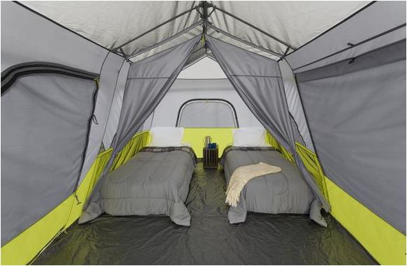 This tent can accommodate any sort of beds.