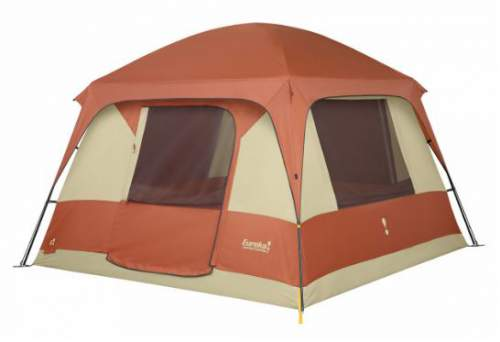 Here is the tent shown with the fly which covers only the roof.