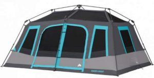 Ozark Trail 10-Person Dark Rest Instant Cabin Tent.