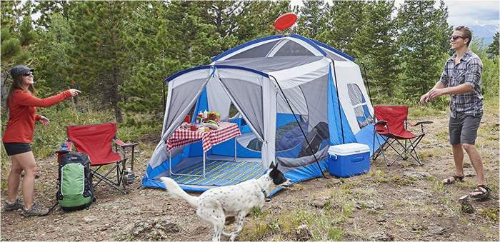 Wenzel 8 tent - forget the number, this is a luxurious option for couples.