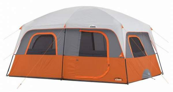CORE 10 Person Straight Wall Cabin Tent 14 x 10.