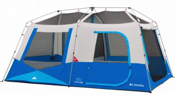 Columbia Sportswear Fall River 10 Person Instant Dome Tent shown without the fly.