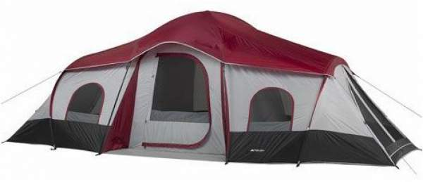 Ozark Trail Family Cabin Tent with 3 rooms.