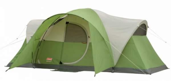 Coleman Montana 8 person tent with hinged door.