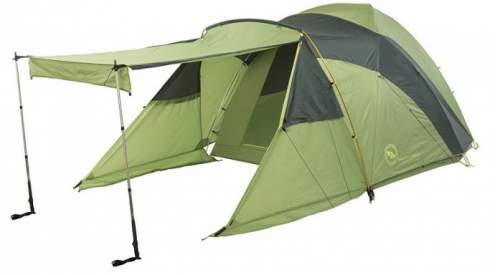 Big Agnes Tensleep Station 6 Tent in one out of several awning configurations.