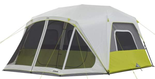 CORE 10 Person Instant Cabin Tent With Screen Room.