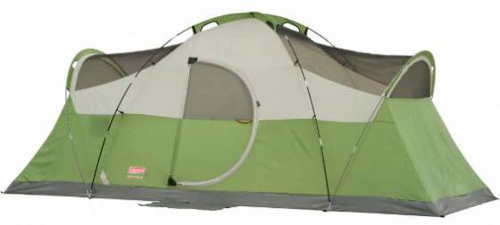 The Montana 8 tent shown without the fly.