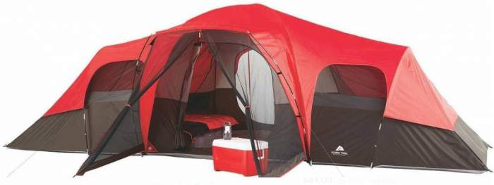 Ozark Trail 10 Person Tent With Screen Porch.  sc 1 st  Family C&ing Tents & Ozark Trail 10 Person Tent With Screen Porch - 21x15 Extended Dome ...