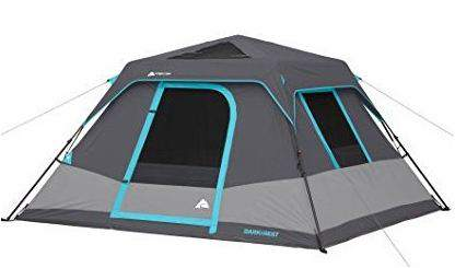 Ozark Trail 6-Person Dark Rest Instant Cabin Tent.