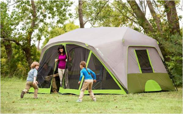 Great tent for groups and for family camping.