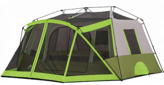 Ozark Trail 9-Person Instant Cabin Tent with bonus screen room shown without the fly.