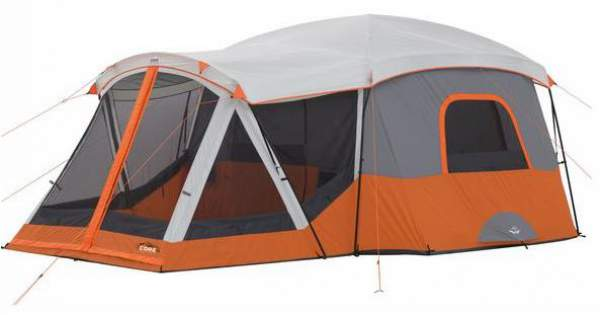 Summer camping tent - Core 11 Person Cabin Tent with Screen Room.