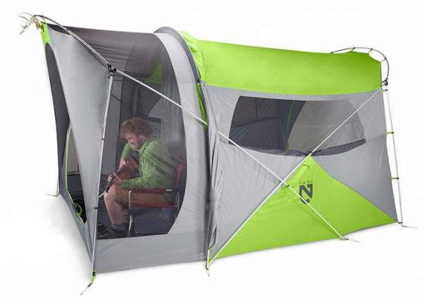 Nemo Wagontop 6 tent - cabin type tent with front screened porch.