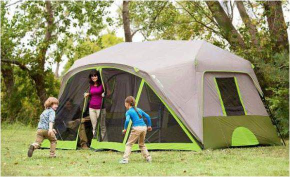 Ozark Trail 9-Person Instant Cabin Tent with Bonus Screen Room.