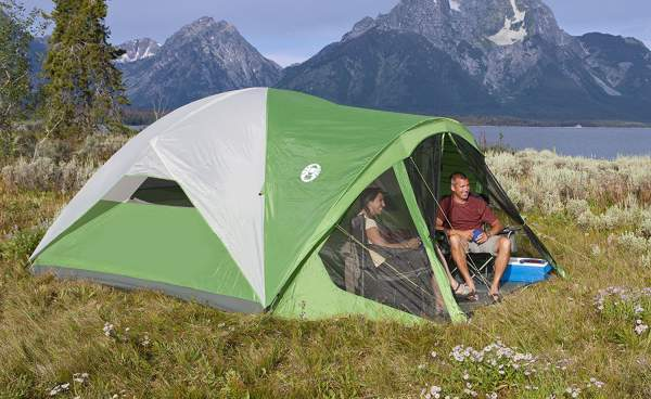 Coleman Evanston 6 Screened Tent - dome type.