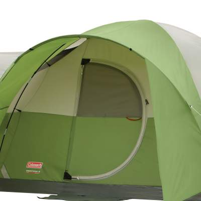 The hinged door is protected under the awning.  sc 1 st  Family C&ing Tents & Coleman Montana 8 Person Tent With Hinged Door - Great Price ...