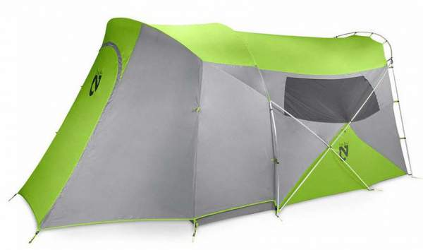NEMO Wagontop 6 Person Tent - with screened porch covered by the fly..
