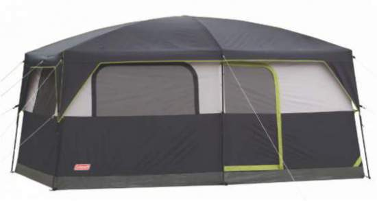 Coleman Prairie Breeze 9 Person Cabin Tent - bathtub style floor.