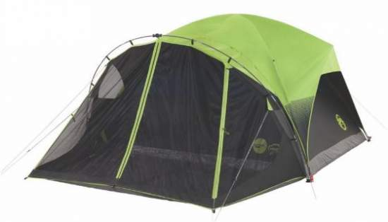 Coleman Carlsbad Fast Pitch 6-Person Dome Tent with Screen Room and Dark Room.