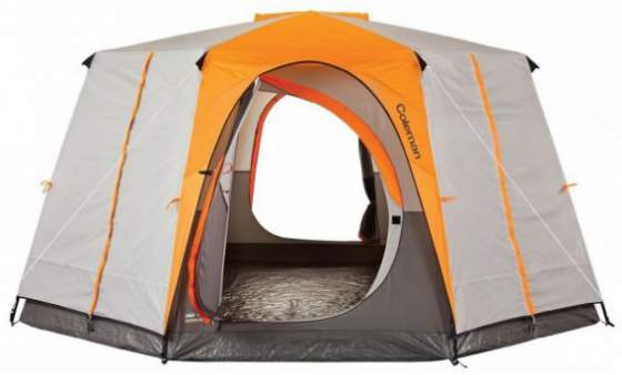 Coleman Octagon 98 full rainfly signature tent.