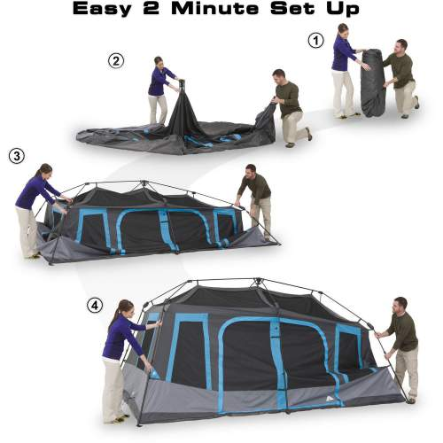 This tent sets up indeed in 2 minutes.