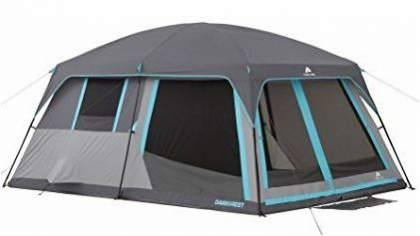 14' x 10' Ozark Trail 10-Person Half Dark Rest Cabin Family Camping Tent.