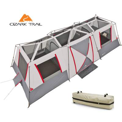 This is a true 3-room tent,