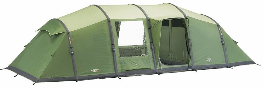 Vango Odyssey Air 800 Tent with the 'lights out' design.