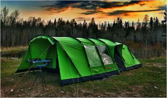 Crua Loj 6 tent with 5000 mm waterproof rating.