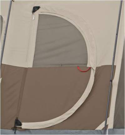 The storm flap protecting the door. : tents with hinged doors - memphite.com