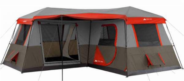 Ozark Trail 16x16-Feet 12-Person 3 Room Instant Cabin Tent.