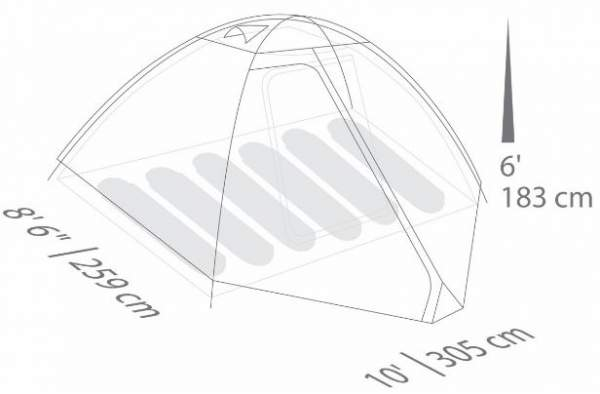 The floor plan and dimensions.  sc 1 st  Family C&ing Tents & Eureka Midori Basecamp 6 Tent Review - Reliable u0026 Affordable ...