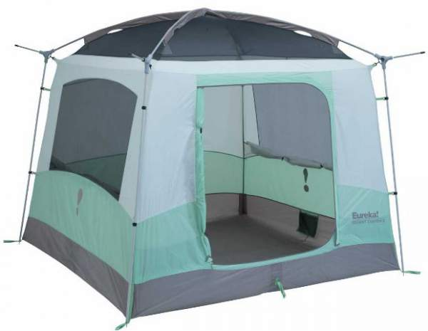 The tent shown without the fly, with the frame visible.