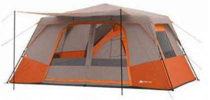 Ozark Trail 11 Person 3 Room Instant Cabin Tent With Private Room.