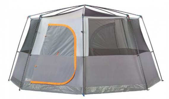 Coleman Octagon 98 2 room tent shown without fly.