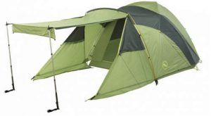 Here the same awning but with windbreakers on the sides.