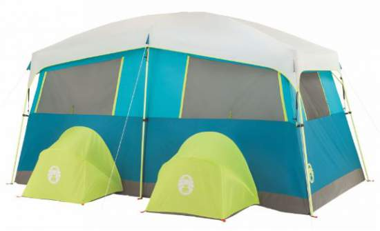 The back view where the 2 cabinets are located.  sc 1 st  Family C&ing Tents : coleman hampton cabin tent - memphite.com
