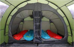 You have two sleeping zones like this.