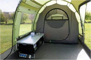 One of the sleeping rooms - the tent within the tent.