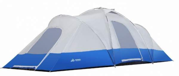 The tent shown without the fly so the poles are visible.