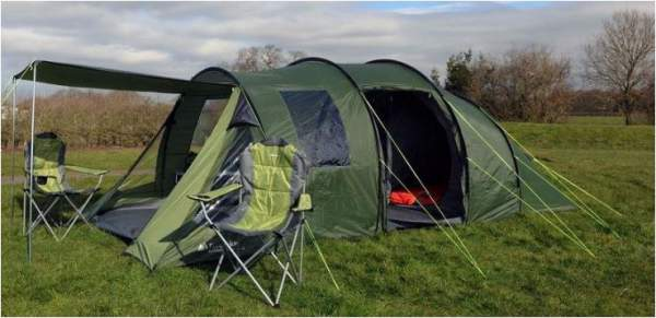 This is the tent in one out of 3 awning configurations.