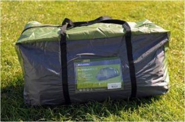 This is the tent packed in its carry bag.