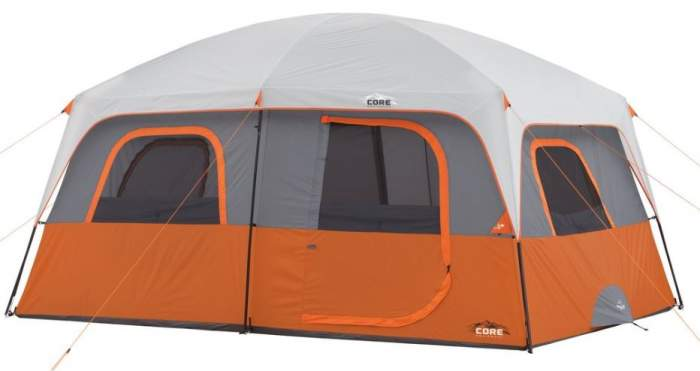 CORE 10 Person Straight Wall Cabin Tent - 14' x 10'.