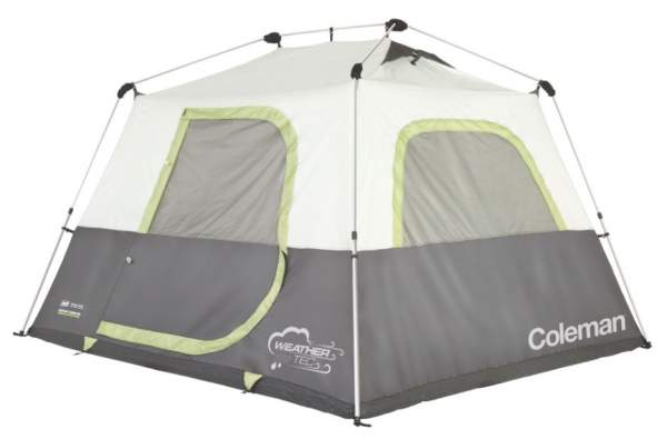 The tent shown without the fly, the frame structure with straight poles and joints.