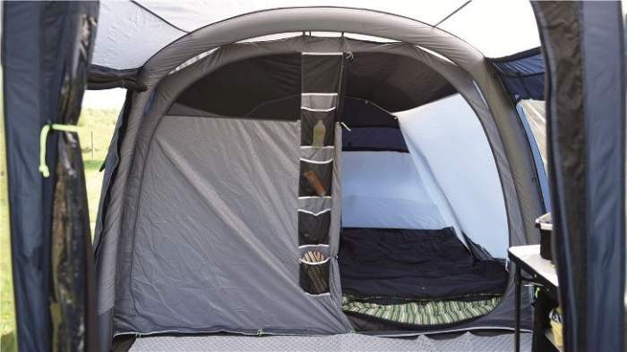 The inner tent with 2 sleeping rooms.