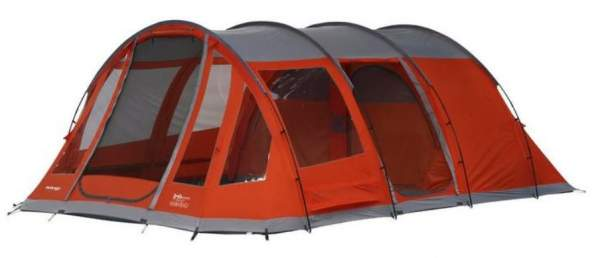 A tunnel type tent - Vango IRIS 600 XL Tent.